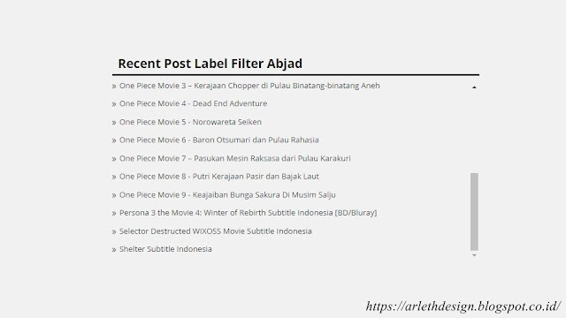 Cara Membuat Recent Post Blogger By Label Filter Abjad