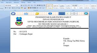 Download Kop Surat Word Doc Contoh Kop Surat Sekolah Dan