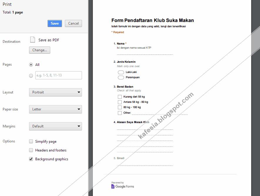 Cara Membuat Formulir Dengan Google Form