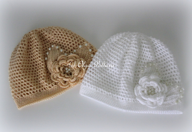 Lacy Crochet Simple Mesh And Irish Rose Crochet Hats For Little Girls