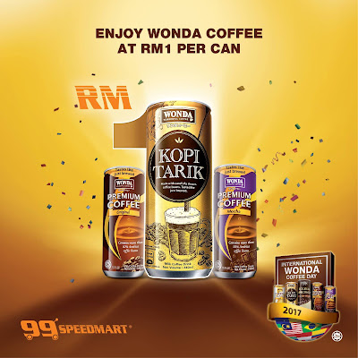 99 Speedmart WONDA Coffee RM1 Discount Promo