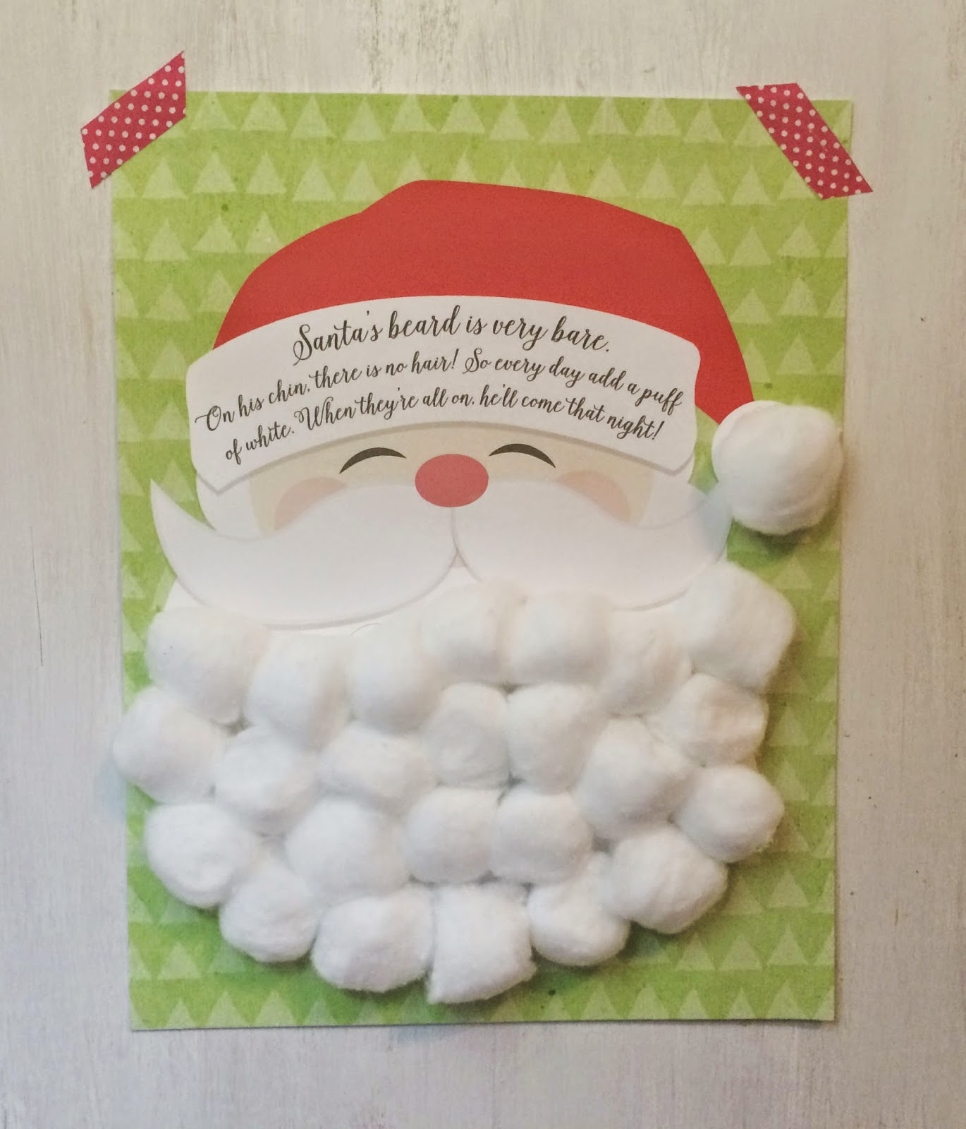 c313793be42 Free Printable  Santa Claus Beard Countdown Calendar