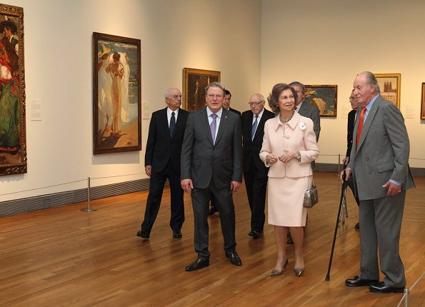 Queen Sofia attended the opening of the exhibition  'Visions of the Hispanic World: Treasures from the Hispanic Society Museum & Library' exhibition at El Prado National Museum