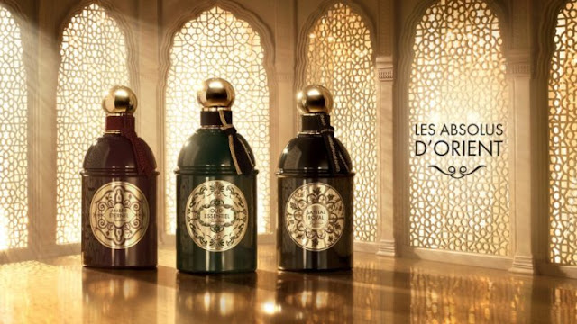 Guerlain Les Absolus d'Orient (Ambre Eternel, Oud Essentiel i Santal Royal)