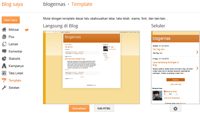 Cara Ganti Template Blog dari Hasil Download