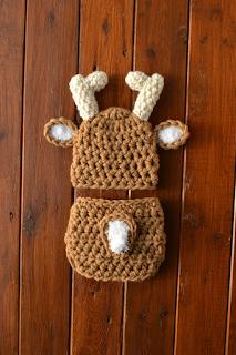 Crochet, Crochet Baby, Crochet Deer hat,