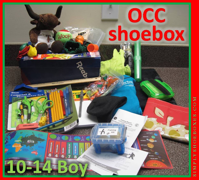 What to pack in an Operation Christmas Child Shoebox for a 10 to 14 year old boy.