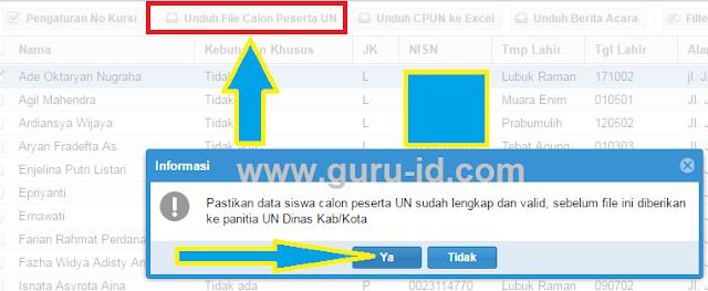 gambar cara unduh file dz calon peserta UN