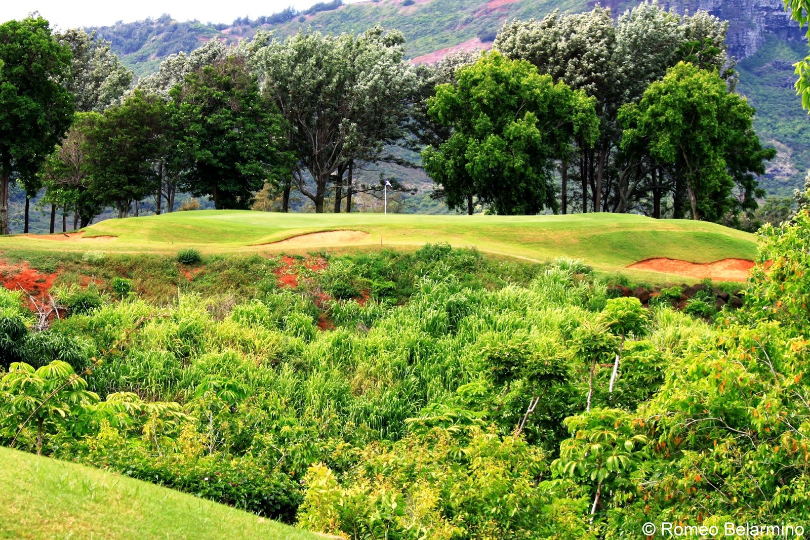 Kiele Mauka Hole 5 Kauai Lagoons Golf Club Hawaii