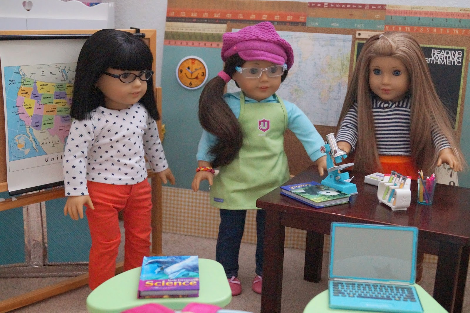 American Girl Doll Play School Days A Day In Science Class