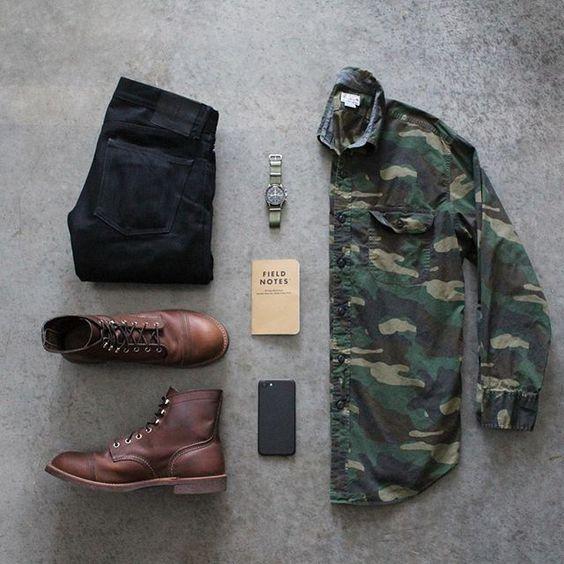 jaqueta masculina camuflada