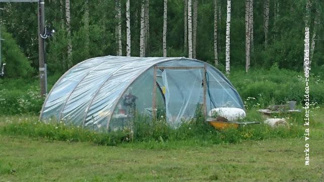 trampoliiini uusiokäyttö kasvihuone