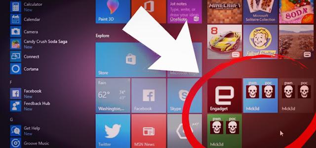 Hacker Hijacks Microsoft Service,Windows 8 operating system,Live tiles function