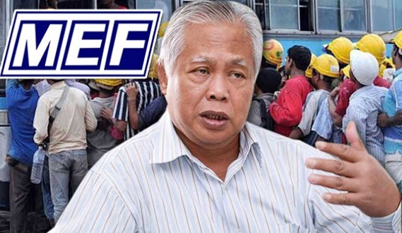 Kerajaan Myanmar Akan Menarik Semula 100,000 Pekerja Di Malaysia, Ini Nasihat MEF Kepada Najib