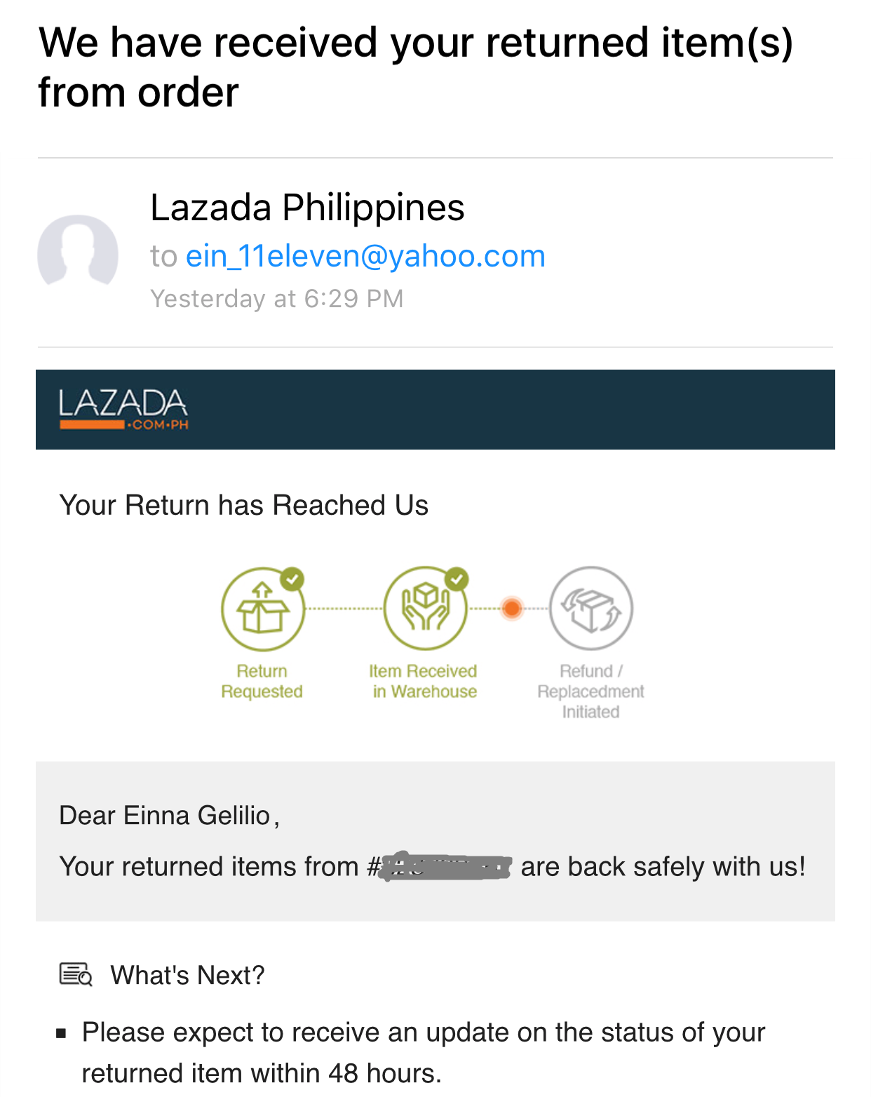 Mommy Tots: My Lazada Return and Refund Experience