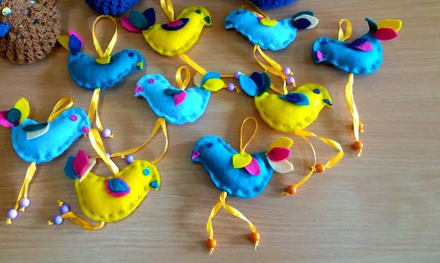 ptaszki z filcu