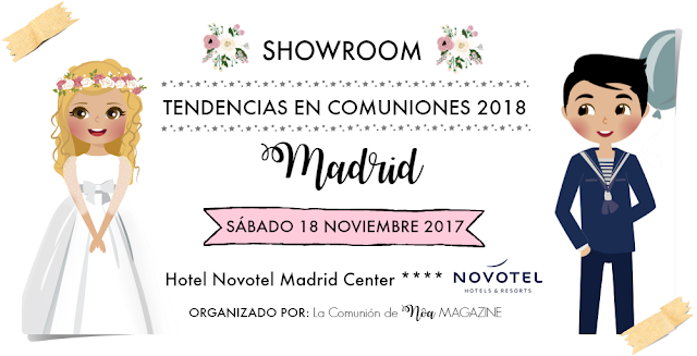 showroom tendencias en comuniones 2018 madrid - la comunion de noa