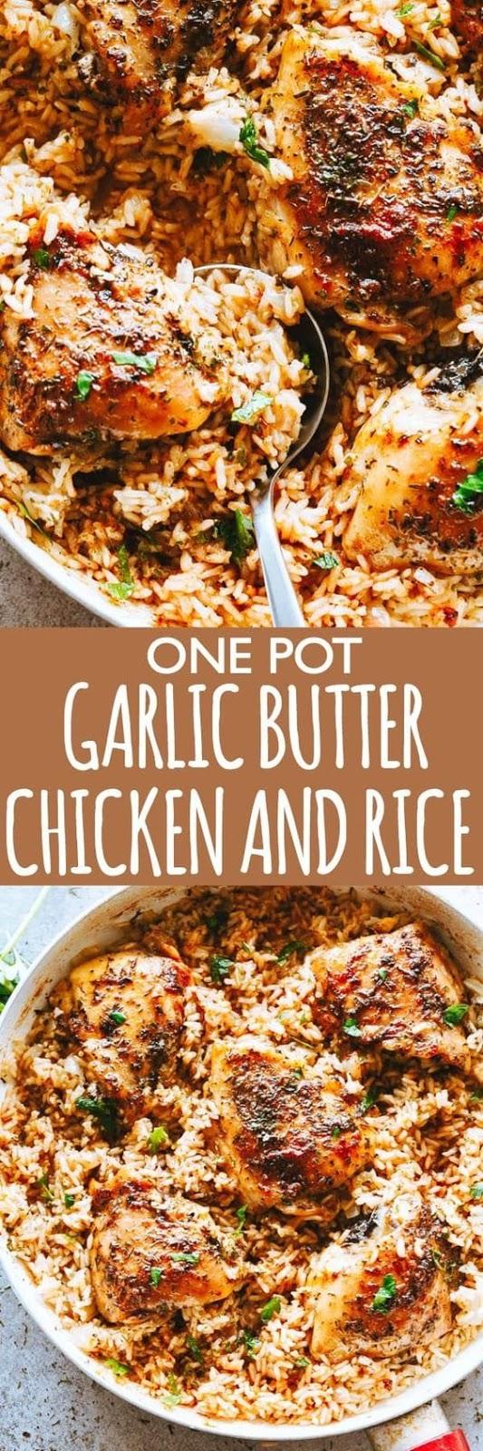 Garlic Butter Chicken and Rice Recipe