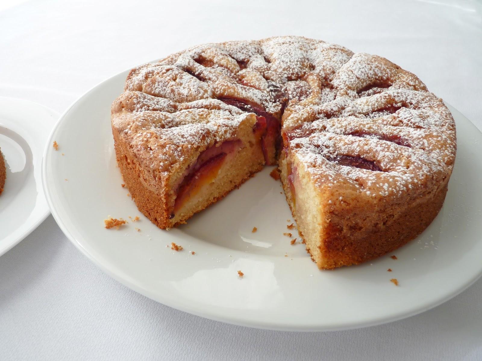 Almond Flour Peach Cake