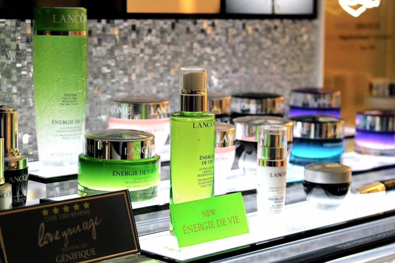 lancome energie de vie display