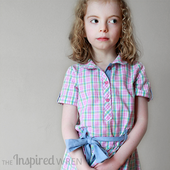 Gorgeous placket on an Oliver + S Jump Rope (Easter/Picture Day Dress) | The Inspired Wren