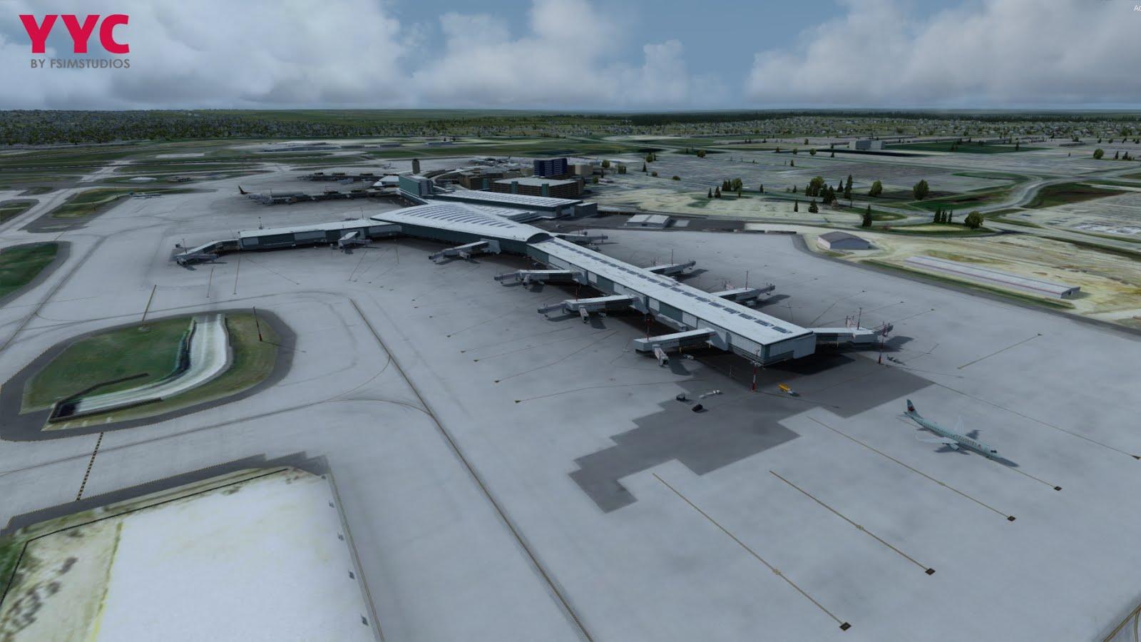 Download Scenery FSimStudio Calgary Int  Airport (CYYC