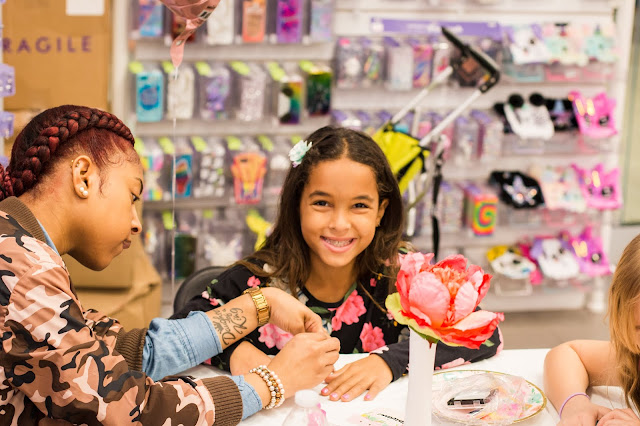 a makeover party at claire's