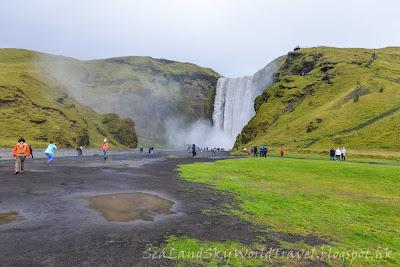 冰島, Iceland, Skogafoss 瀑布