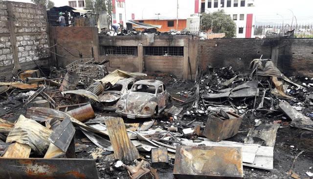 informe de los peritos de la policía, el incendio del GRA fue provocado