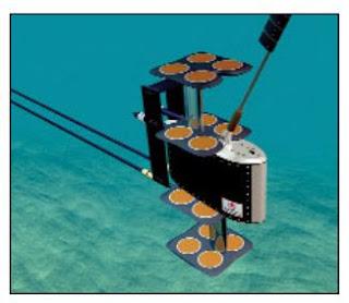 Буксируемая подсистема антенной решетки гидролокатора VDS-100