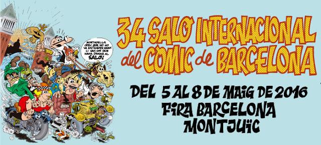 cartel de la edición 34 del Salón del Cómic de Barcelona, dibujado por Ibáñez