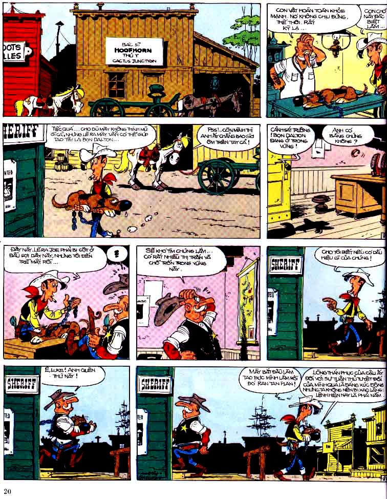 Lucky Luke tap 15 - ma dalton trang 21