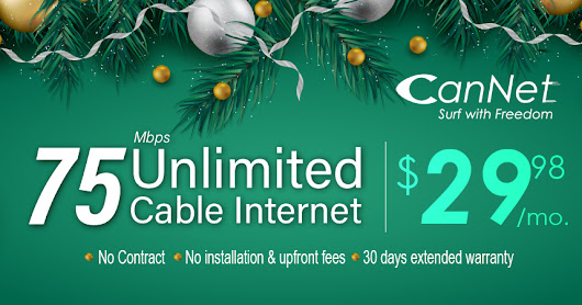 Find Out about 75M Unlimited Internet Deal with affordable Prices on this Christmas