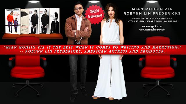 Robynn Lin Fredericks, American Actress Endorses Mian Mohsin Zia