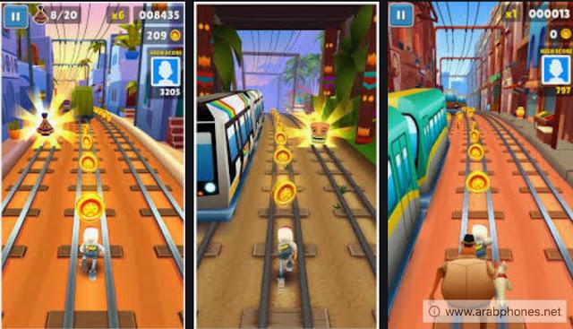 تحميل لعبة Subway Surfers مهكرة اخر اصدار apk