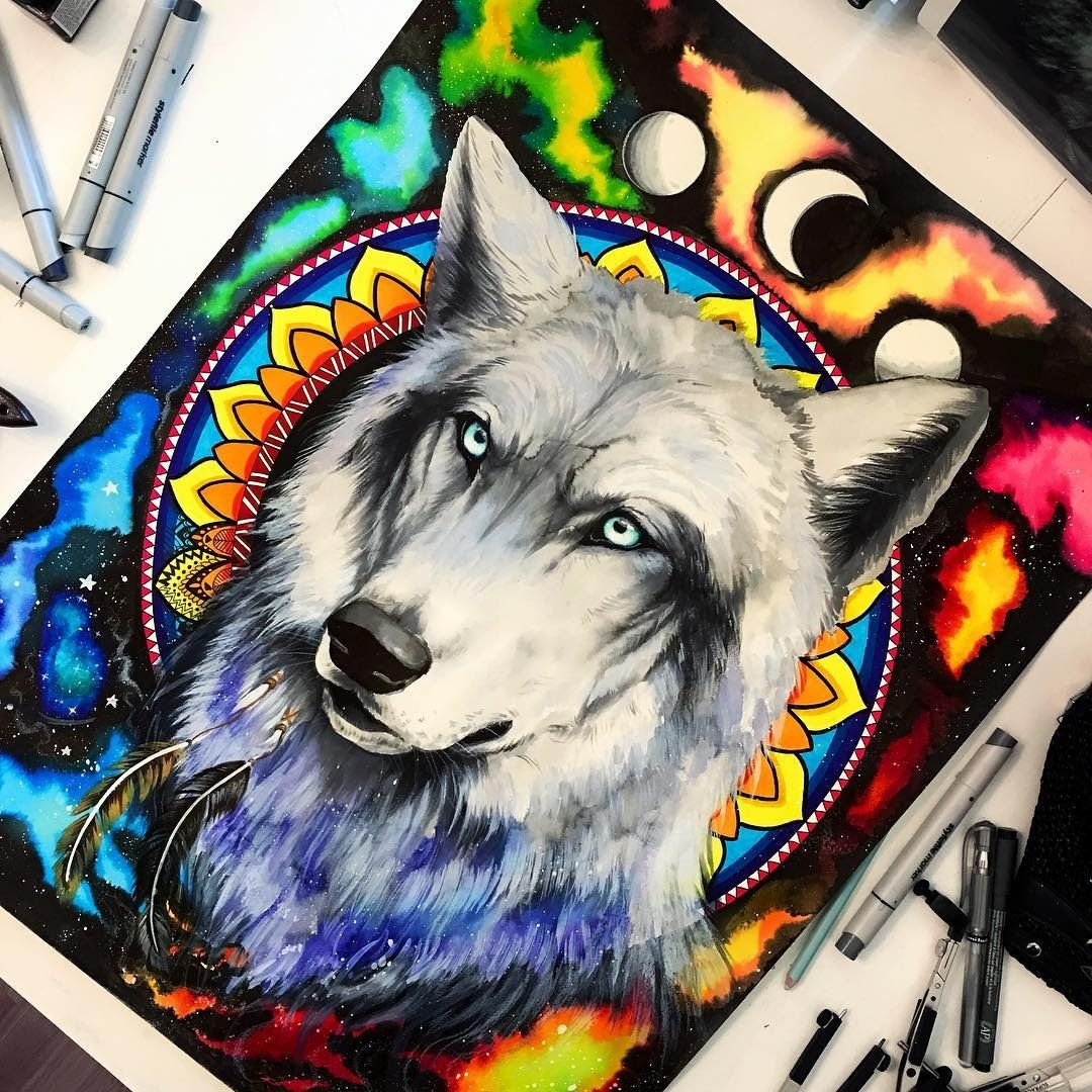 04-Wolf-Pixie-Cold-Fantasy-Animals-in-Different-Style-Drawings-www-designstack-co