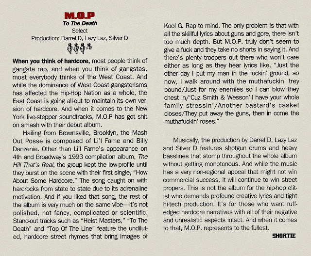 M.O.P. To The Death Album Review The Source