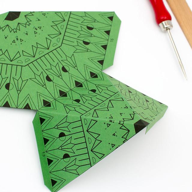 Stern Weihnachten Papier selber machen