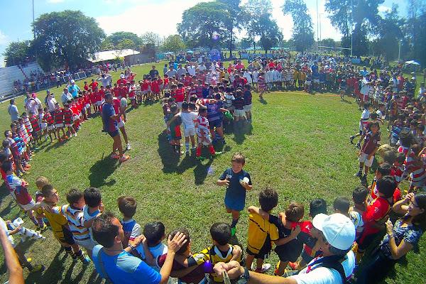 Los encuentros de rugby infantil reunieron a 3500 chicos de la región