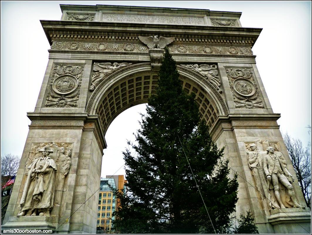 Árbol de Navidad en Washington Square