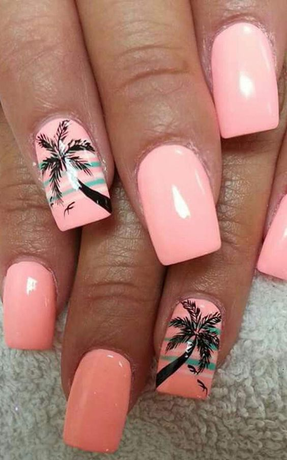TROPICAL NAIL DESIGN FOR THE SUMMER