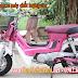 Sơn xe máy Honda Chaly màu hồng cực đẹp