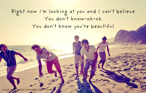 the song you dont know youre beautiful