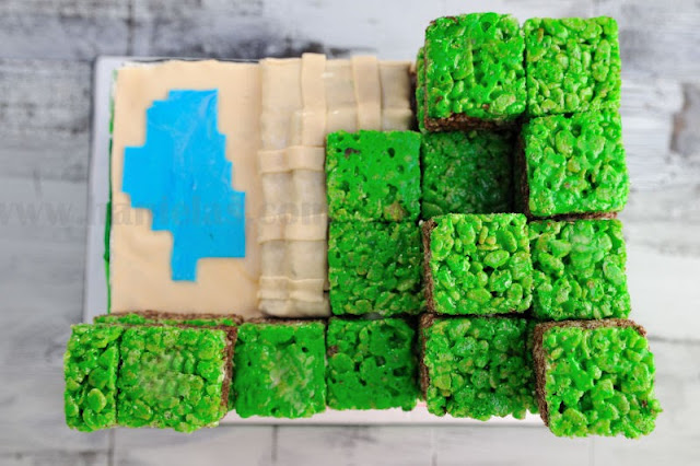 Haniela S Minecraft Dirt Blocks Rice Krispies