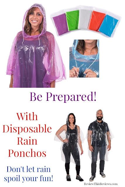 Inenpensive Disposable Rain Ponchos Reviewed