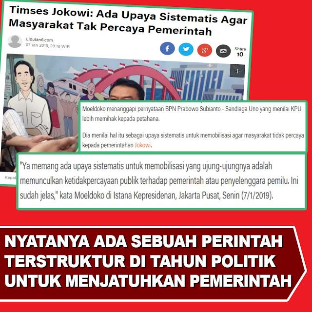 Timses Jokowi: Ada Upaya Sistematis Agar Masyarakat Tak Percaya Pemerintah