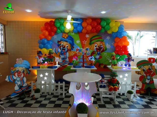 Decoração de mesa infantil Patati Patatá para festa de aniversário