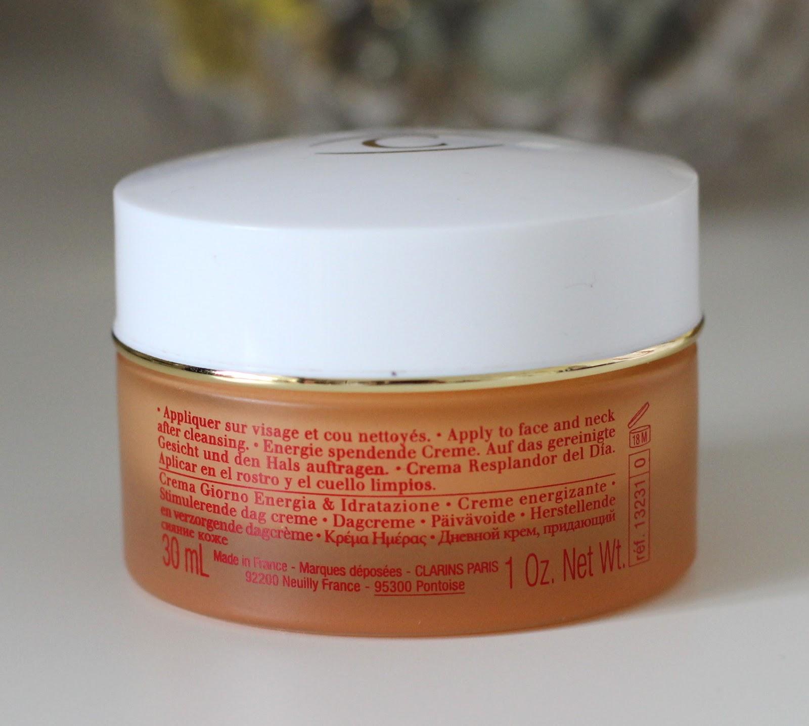 clarins daily energizer cream gel