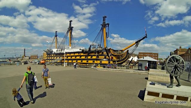 Navio HMS Victory, do almirante Nelson,nau capitânia da Batalha de Trafalgar
