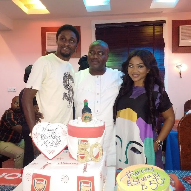 All the photos from Mercy Aigbe's husband's birthday celebration today